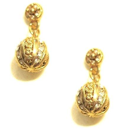 Pilgrim Ohrring vergoldet mit Kristallsteinen Artikel Nr. 601212063