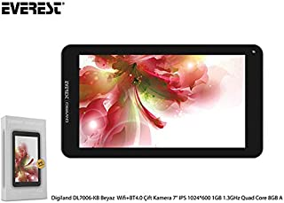 Everest Digiland DL7006-KB Beyaz Wifi + BT4.0 Çift Kamera 7 IPS 1024*600 1GB 1.3GHz Quad Core 8GB Android 7.0 Tablet Pc