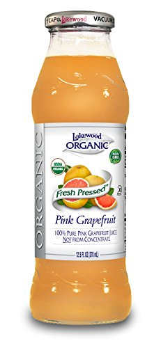 Lakewood Organic PURE Pink Grapefruit Juice, 12.5-Ounce Bottles (Pack of 12)