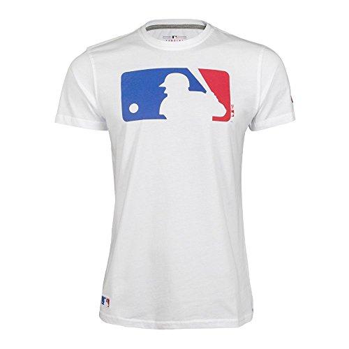 New Era Herren T-Shirt MLB Logo T-Shirt, White, L, 11204001
