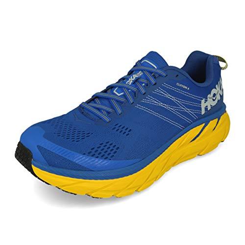 HOKA ONE ONE Mens Clifton 6 Nebulas Blue/Lemon Running Shoe - 12.5
