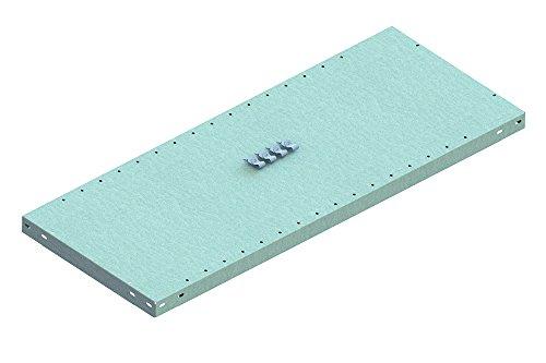 META 1370071 Lagerregal, Clip 150 Zusatzboden mit 4 Fachbodenträger, kpl, 1000 mm x 600 mm, Verzinkt