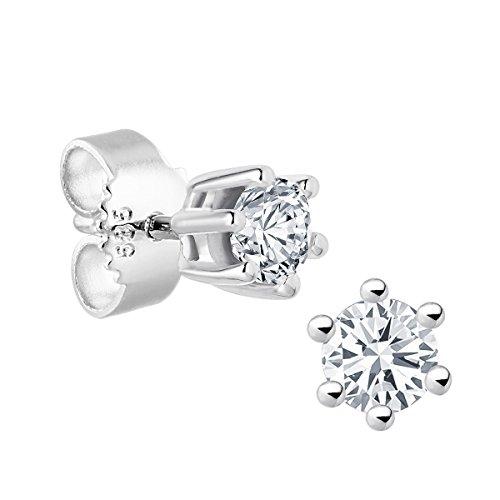 Diamond Line Diamond Line Damen - Ohrstecker 585er Gold 2 Diamanten, weißgold