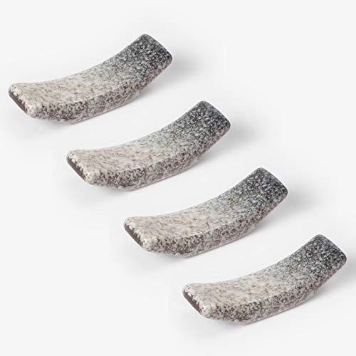 Youda Palillos Descansa en Cerámica, Soportes para Palillos 4 Piezas Palillos Titular Resto Set para Cuchillo Tenedor Cuchara, Sushi Palillos Resto (Degradado de Color)