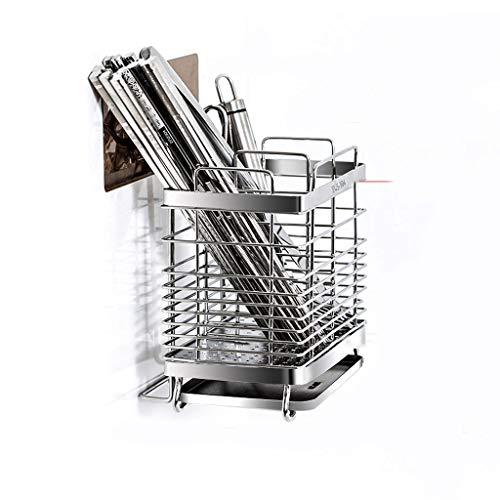 LLKK Porta-Utensilios de Cocina,Soporte para Cubiertos,Soporte para Cubiertos de Metal,Estante de vajilla de Pared para el hogar,Jaula de Almacenamiento de vajilla de Cocina