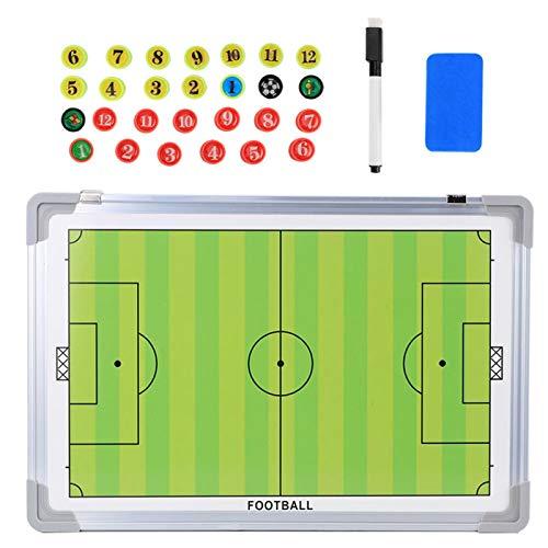 Deror Tablero de tácticas de fútbol magnético de aleación de Aluminio Borrado en seco Entrenadores de fútbol Placa de Juego Colgante