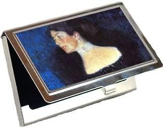 Portrait of Rose Von Rosthorn Friedmann By Gustav Klimt Business Card Holder