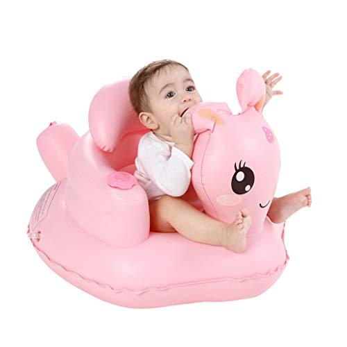 Diaod Aprender Asiento Silla de Comedor Plegable Anti-caída del bebé Multifuncional bebé pequeño Asiento de baño Inflable Joven portátil Sofá