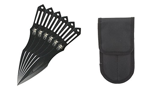 PS Target Master 6 Pcs 5.5 Inches Black Widows Spider Throwing Knife Set