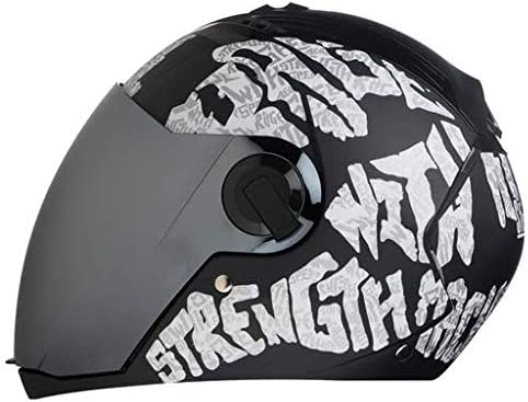 Steelbird SBA-2 Strength Stylish bike full face helmet with free transparent Visor for night vision (600MM, Black wit...