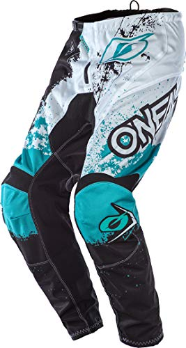 O'NEAL Element Impact MX DH MTB Pant Hose lang schwarz/weiß/türkis 2020 Oneal: Größe: 32 (48)