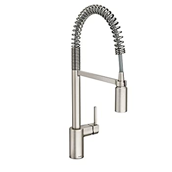 Moen 5923SRS Align One-Handle Pre-Rinse Spring Pulldown Kitchen Faucet Spot Resist Stainless