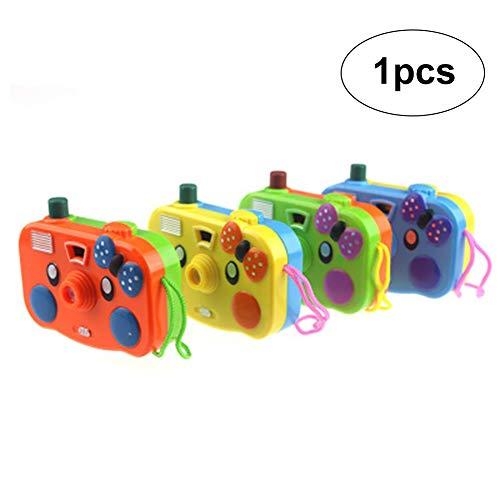 1 cámara de dibujos animados para niños, juguete educativo de proyección, cámara de proyección, diseño de animales, proyección de luz, juguete para fotografía, regalo (color al azar)
