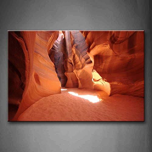 NIMCG Cuadros de Arte de Pared Canyon Cave Sand Land Impresión de Lienzo Paisaje Carteles Modernos con para Sala de Estar (Sin Marco) R1 30x45CM