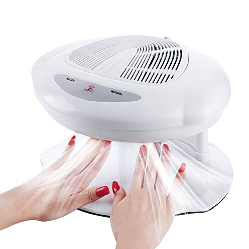 Makartt Air Nail Dryer for Both Hands and Feet 400W Air Nail Fan Blow Dryer for Regular Nail Polish Automatic Sensor Warm Cool Breeze Home and Salon Use No Harmful to Eyes/Hands/Feet,C-02