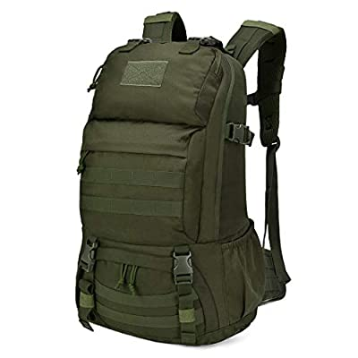 Mardingtop 40L Tactical Backpacks Molle Hiking daypacks for Camping Hiking Military Traveling Motorcycle (40l-army Green-rain cover)