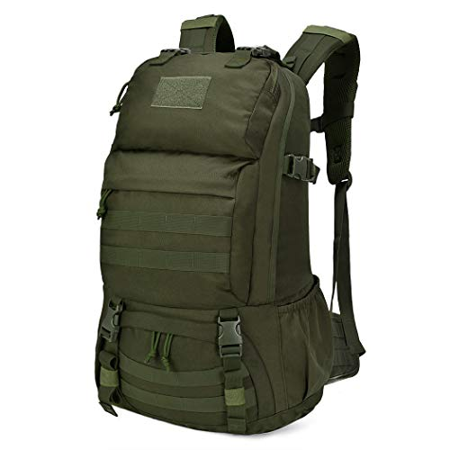 Mardingtop 40L Tactical Backpacks Molle Hiking daypacks for Camping Hiking Military Traveling Motorcycle 40L-Army Green