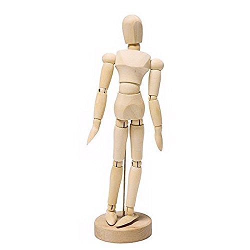 Arte humano de madera Posable Dibujo Articulaciones flexibles Maniqu/í Maniqu/íes Figuras Mu/ñeca Modelo Boceto Maniqu/í Mano, color madera tama/ño: M