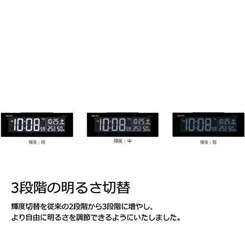 セイコークロック置き時計01:黒本体サイズ:7.3×22.2×4.4cm電波デジタル交流式カラー液晶シリーズC3値札なしBC406K