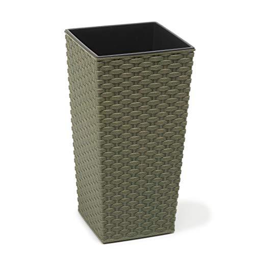 Lamela Eco - Vaso da Fiori per Erbe aromatiche | Finesia in Rattan | Porta finestre da Giardino da Balcone | Home Decor | Mix!