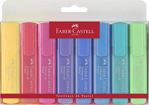Faber-Castell Textliner 46 - Evidenziatori pastello, confezione da 8