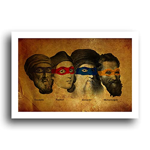 Teenage Mutant Ninja Turtles - Artists - 13x19 Original Minimalist Art Poster Print