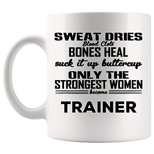Women Trainer Mug Coach Coffee Cup Mugs - Instructor Athletic Fitness Personal Animal Teacher Coach Thoughtful Gift for Woman Girl Lady Ladies Mom Wife Mugs