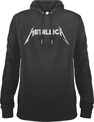 Sudadera con Capucha con Logo de Metallica, Color Blanco Charcoal M