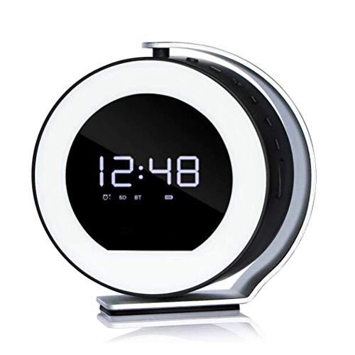 XXLYY Digitaler Wecker Wiederaufladbare Tischuhr mit Bluetooth-Lautsprecher und Nachtlicht Multifunktionaler 5-in-1-Wecker für zu Hause und im Büro