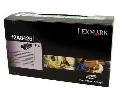 Neu Lexmark Druckkassette ( druckpatrone / Tonerkartusche / Laserdrucker / TonerKassette ) Schwarz Hohe Ergiebigkeit 12A8425 12A8325 12A8644 pour T430 Serie