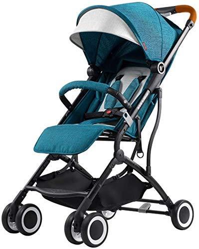 Cochecito de bebé Carrito recién Nacido Cochecito de bebé Cochecito liviano Límite de una Mano Pega a Mano Cochecito de Viaje, 46x68x100cm (Color: Azul) fengong (Color : Blue)