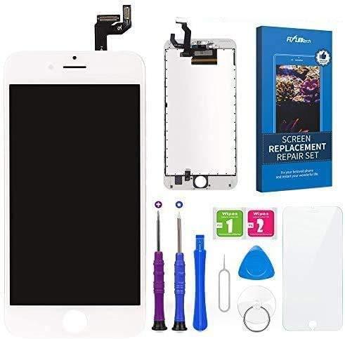 """FLYLINKTECH Pantalla Táctil LCD Reemplazo para iPhone 6s Plus Blanco 5.5"""" Contiene Herramientas + película de Vidrio Templado - Blanco"""