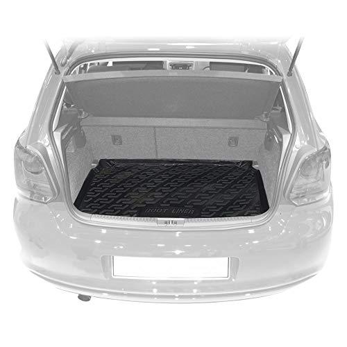 Bär-AfC VW09051 Kofferraum-Wanne Laderaumwanne Schwarz, Erhöhter Rand, Passgenau für Modell Siehe Details