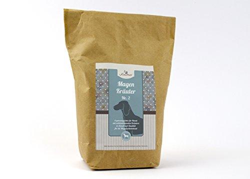 Magen Kräuter No. 2 für Hunde in hochwertiger Qualität, frei von jeglichen Zusätzen, Hundekräuter bei chronischen Magenproblemen & als Magenschutz unterstützend mit Schleimstoffen – 250 g GESCHNITTEN