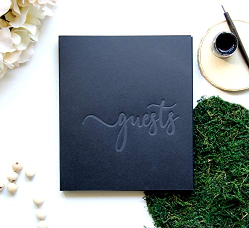 Wedding Guest Book Alternative, Guest Book Polaroid, 130 Black Pgs, 8.5x7 inch. Wedding Guestbook with Blank Pages, Instax Guest Book for Wedding Photo Booth Props Black Guest Book Wedding (Black)
