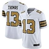 Michael Thomas - Camiseta de fútbol americano para hombre, color blanco y negro
