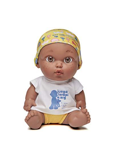 Juegaterapia Muñeco Baby Pelón, Diseñado por Leire, Juguete Solidario con Olor a Vainilla, 20 x 10 x 20 cm