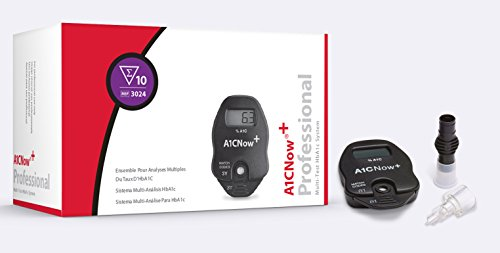 PTS Diagnostics A1C Now+ Multi-Test Blood Glucose Monitor (10 tests/box)