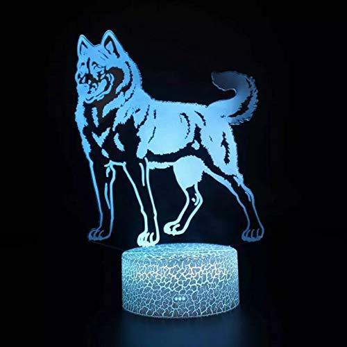Pet old bitch lámpara de atmósfera 3D lámpara de mesa LED decoración navideña multicolor luz de noche 3D decoración de regalo de vacaciones lámpara de mesa