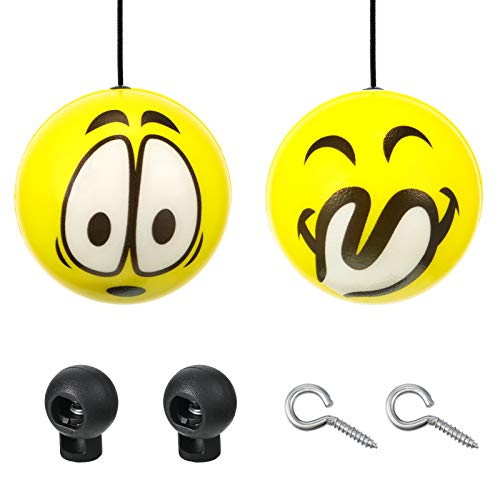 Double Garage Parking Aid, Parking Ball Guide System, Parking Assist Ball, Retractable Balls with Ropes and Adjustable Clips Hooks for Car Garage Parking (6 Pieces)