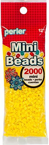 Perler 80-14101 Mini Fuse Bead Craft Supplies, 2000pcs, Yellow