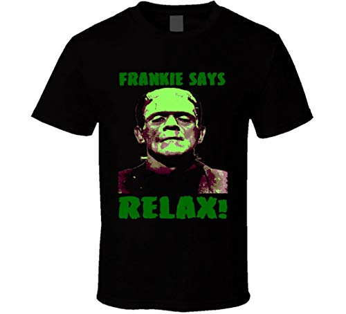 Funny Frankenstein Halloween Frankie Says Relax T-shirt, M to 3XL