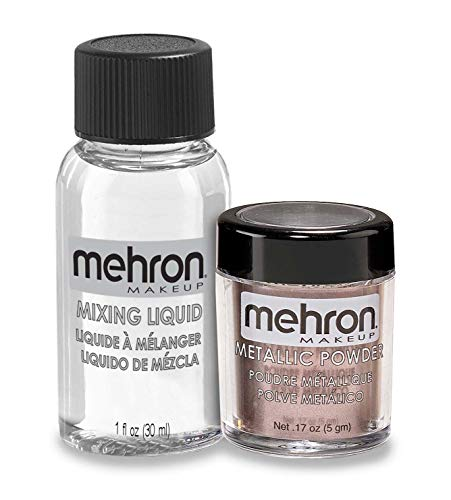 Mehron Makeup Metallic Powder (.17 oz) with Mixing Liquid (1 oz) (LAVENDER)