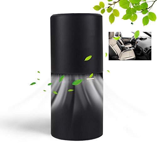 Lesgos Luftreiniger Air Purifier, Auto Ionisator Luftreiniger, Tragbarer Auto-Lufterfrischer Ionizer Für das Auto Home Office entfernt Staub/Pollen/Rauch/schlechte Gerüche/Bakterien