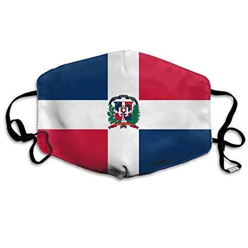 Vlag van Dominicaanse Republiek Unisex Creatieve Mond Maskers Wasbare Veiligheid 100% Polyester Anti Stof Half