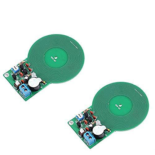 Ximimark - Juego de 2 detectores de Metal para soldar electrónico, módulo de Placa de Sensor sin Contacto, Detector de Piezas de Metal electrónico para Bricolaje DC 3 V-5 V 60 mm