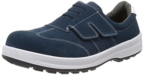 [シモン] 安全靴 短靴 JIS規格 耐滑 耐油 快適 軽量 スタンダード マジック ベロア SS18BV 青 28.0 cm