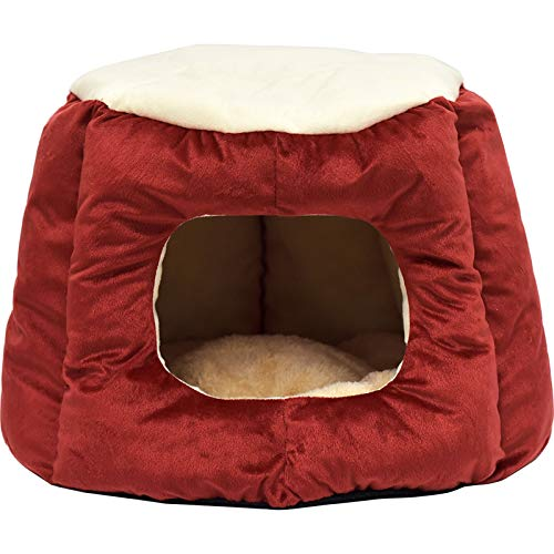 MCYYY Warmes Katzennest Heimtierbedarf Vier Jahreszeiten Katzenschlafsack Tiefschlaf Halbgeschlossenes Katzenzelt KatzenhausA