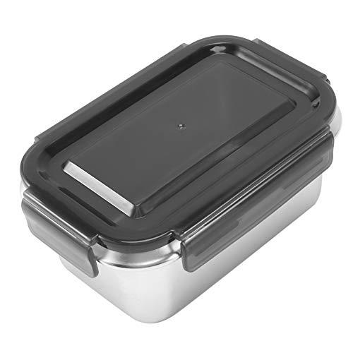 Ctzrzyt Caja de Almuerzo de Acero Inoxidable Contenedor de Almacenamiento de Alimentos Caja Bento con Tapas HerméTicas para FrigoríFico o Uso en FríO