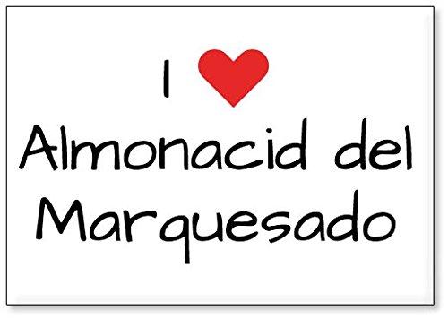 Mundus Souvenirs - Amo Almonacid del Marquesado, Imán para Nevera (diseño 1)
